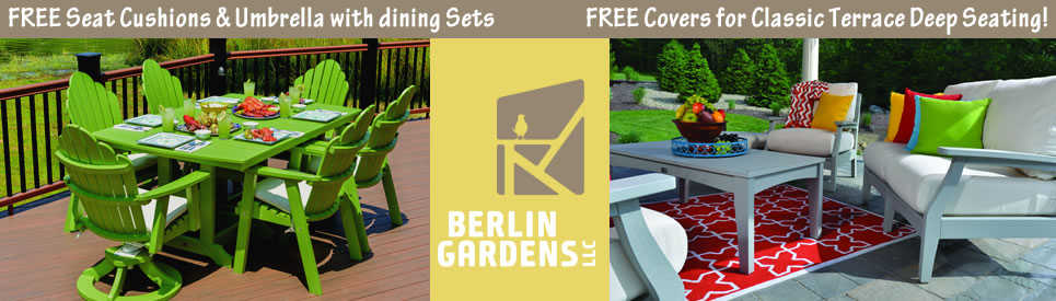Sale on Berlin Gardens Outdoor Furniture for Memorial Day