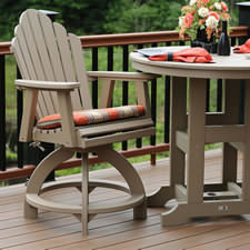 Polywood Adirondack Counter Chairs