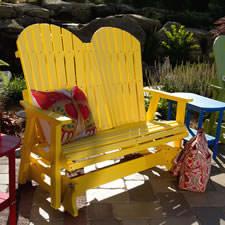polywood adirondack gliders - Polywood Adirondack Chairs