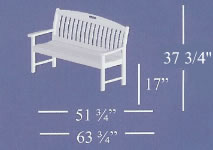 Poly-Wood Nautical Collection Bench