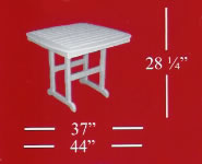 Poly-Wood Nautical Square Dining Table
