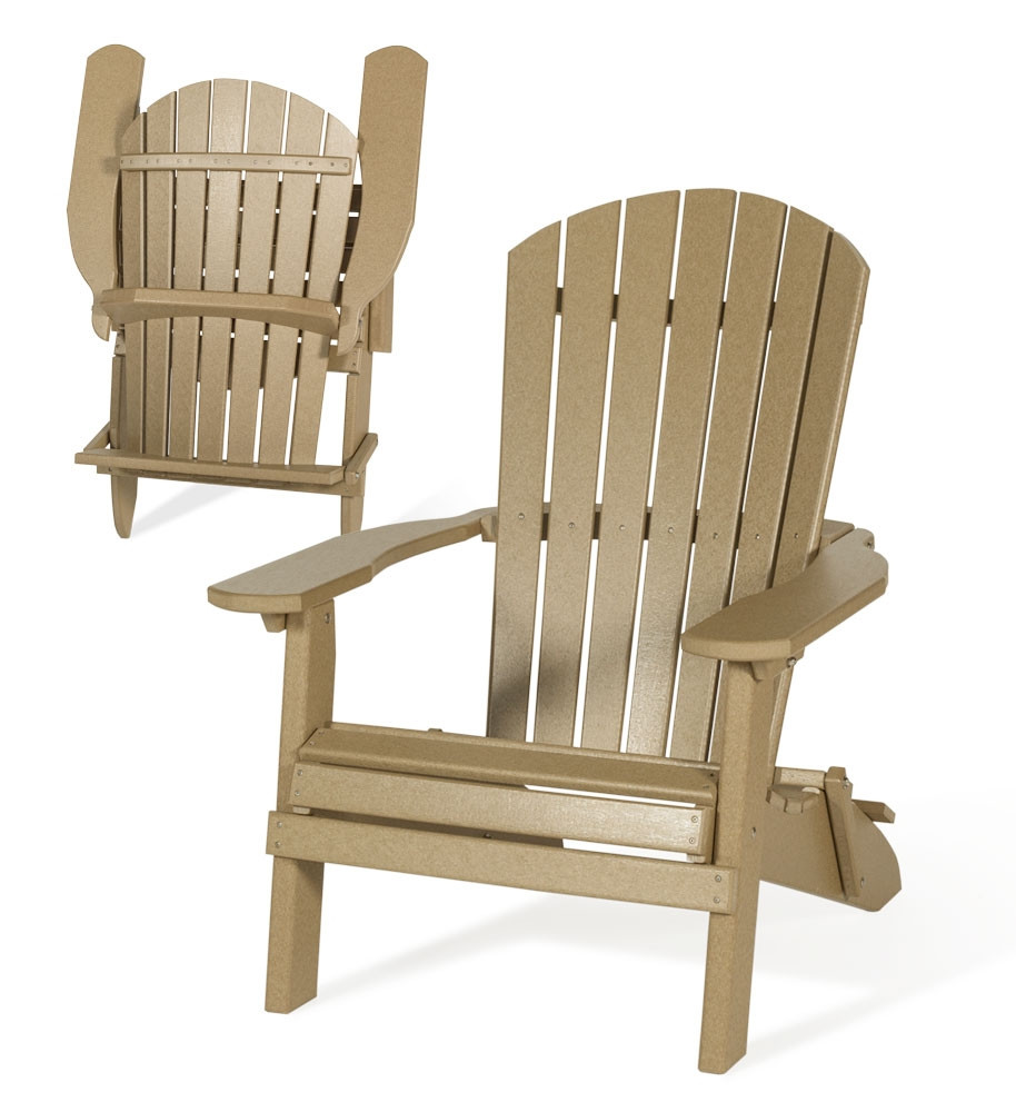 Amish Poly Folding Adirondack Chair Poly Adirondack