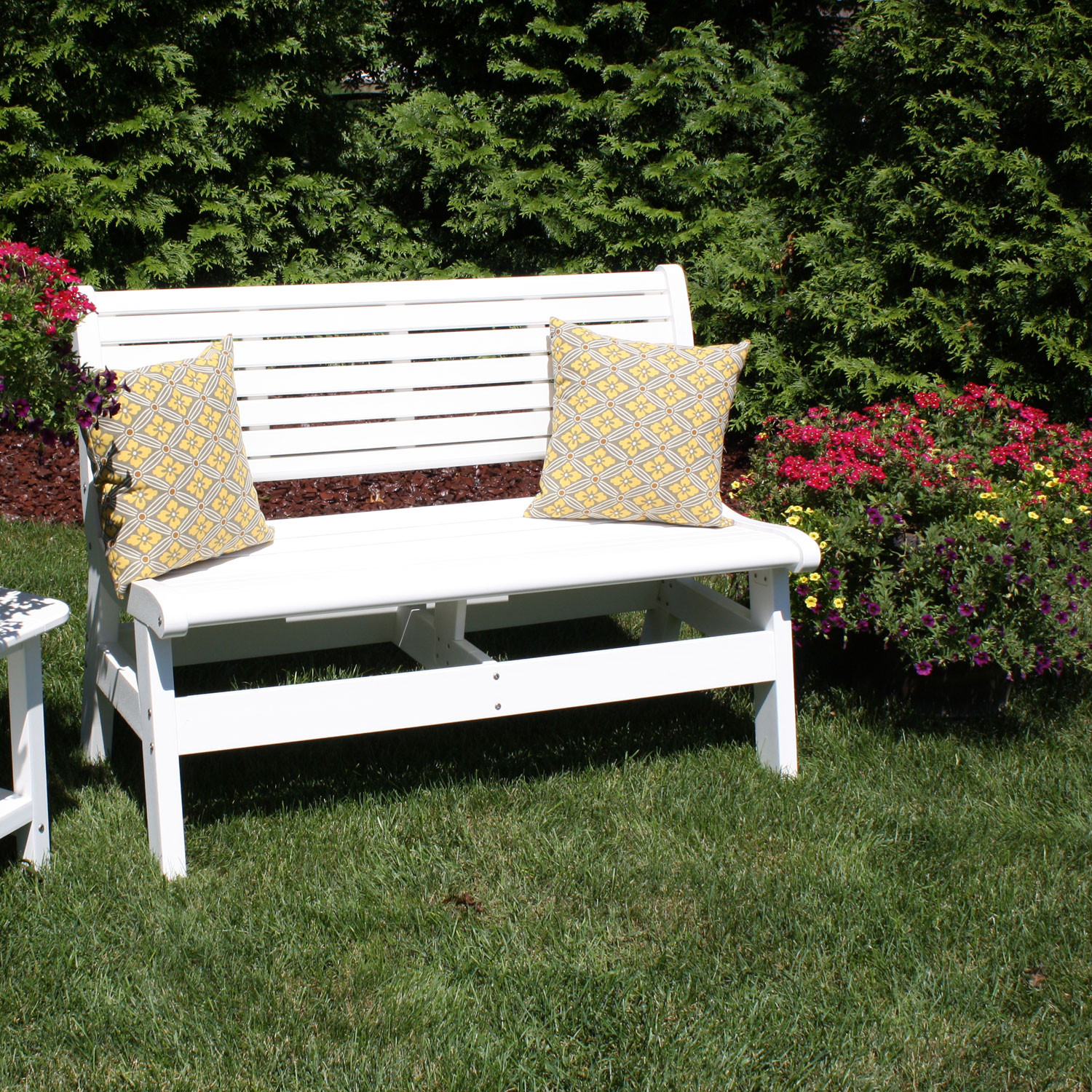 Newport Bench Part - 30: Malibu Outdoor Newport 48 In Bench With Back And Arms