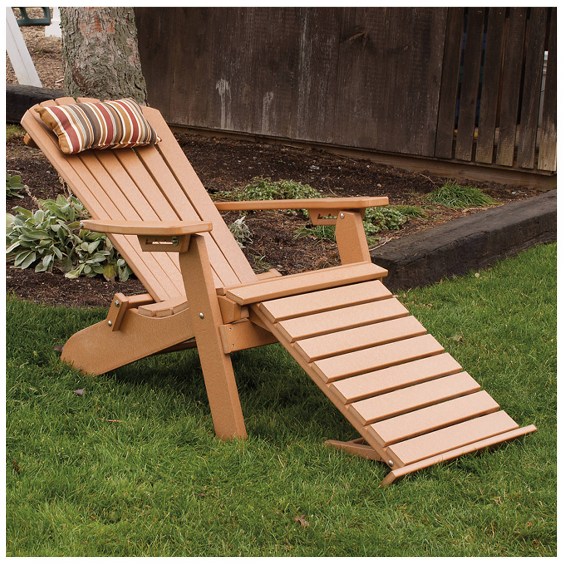 Au0026L Furniture Poly Folding/Reclining Adirondack Chair With Pullout Ottoman.  PrevNext