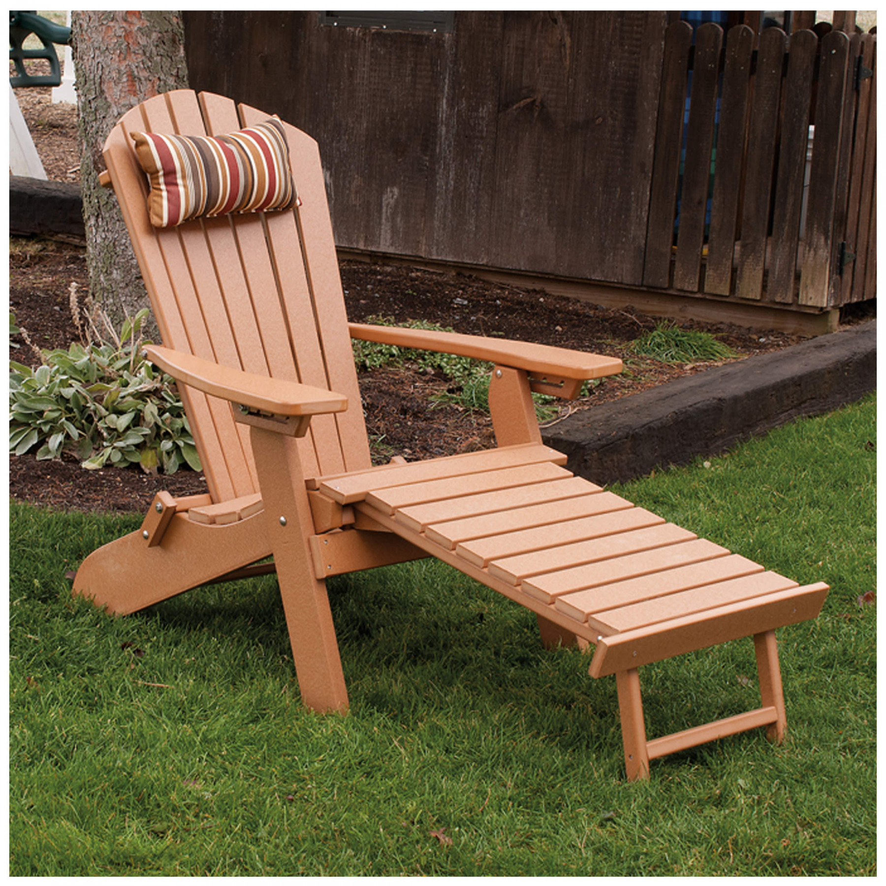 A Amp L Furniture Poly Folding Reclining Adirondack Chair With