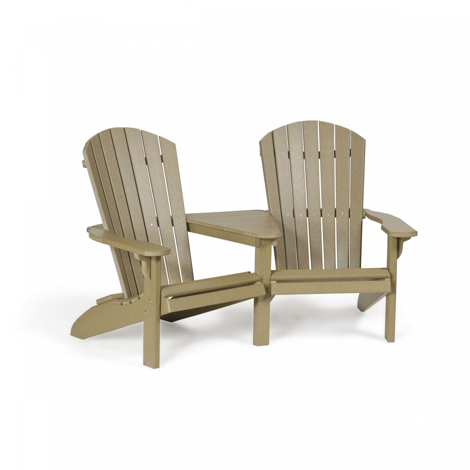 Amish Poly Wood Fan Back Adirondack Settee Leisure Lawns Collection Collections