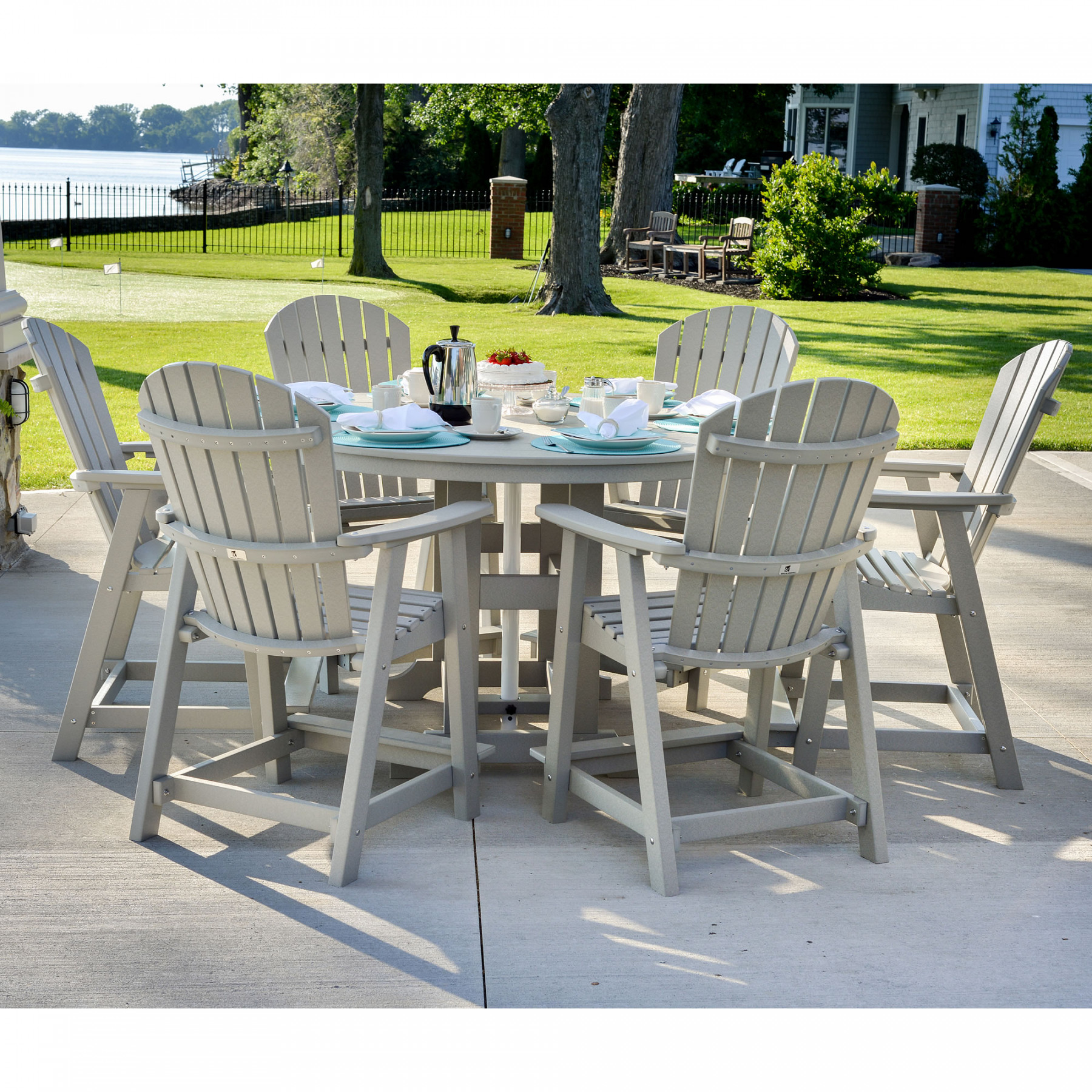 Berlin Gardens 7 Pc. Comfo Back Counter Dining Set
