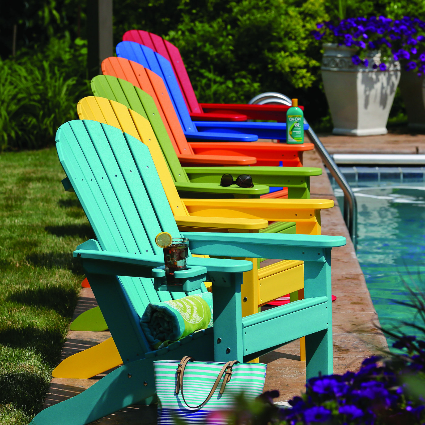 100 Polywood Adirondack Chairs With Cup Holders