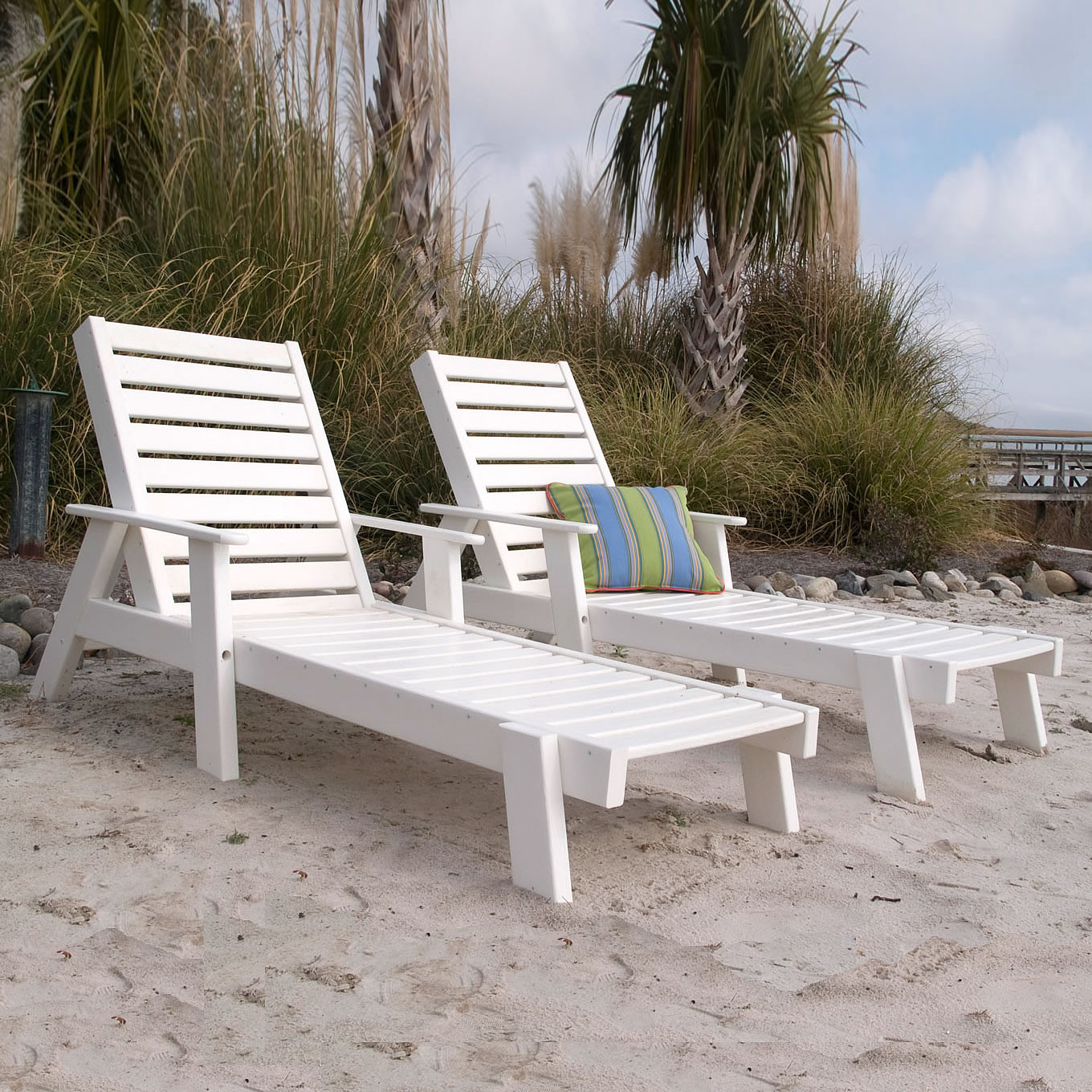 Polywood Captain Chaise Lounge Seating Set Captains