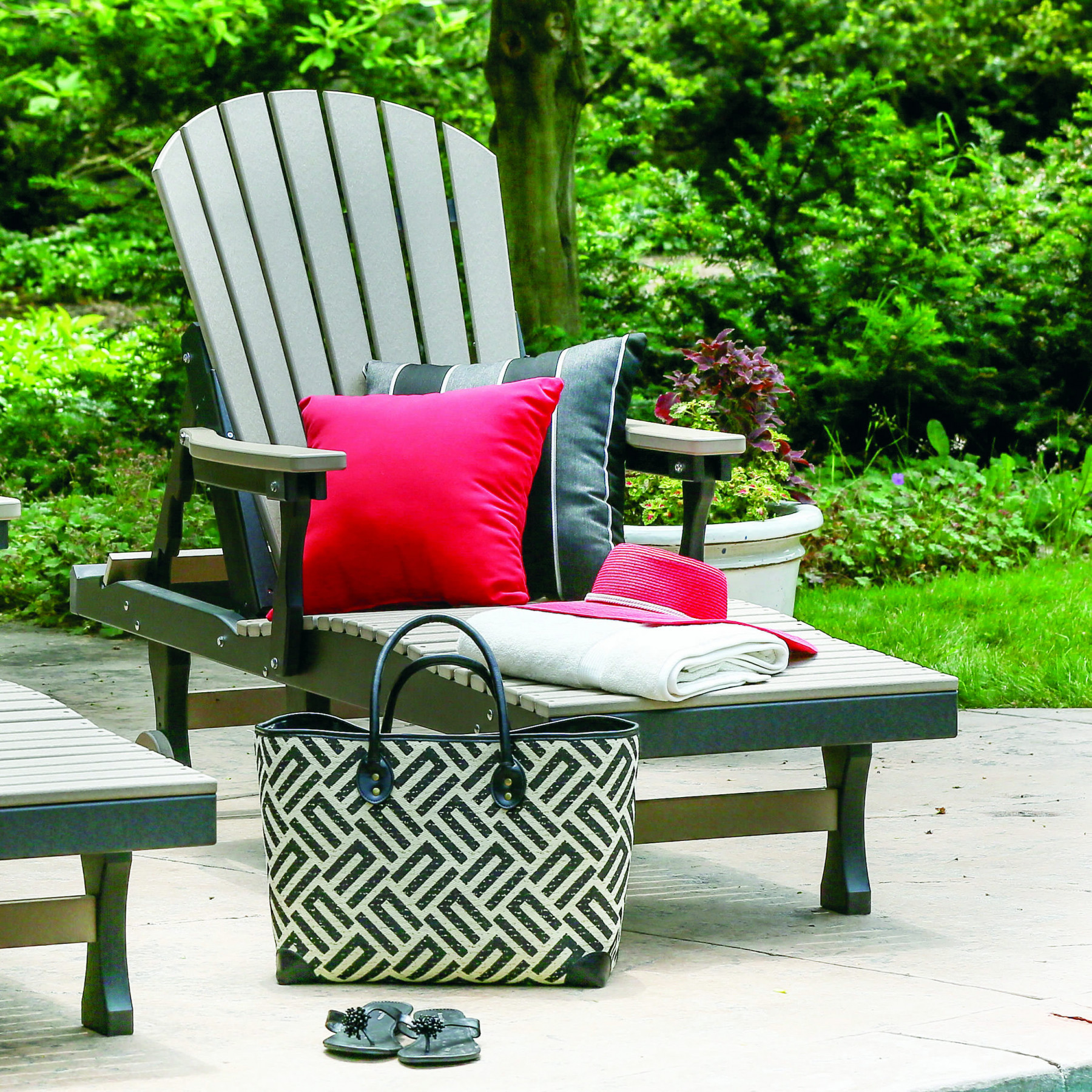 Berlin Gardens Comfo Back Chaise Lounge Set Comfo Back