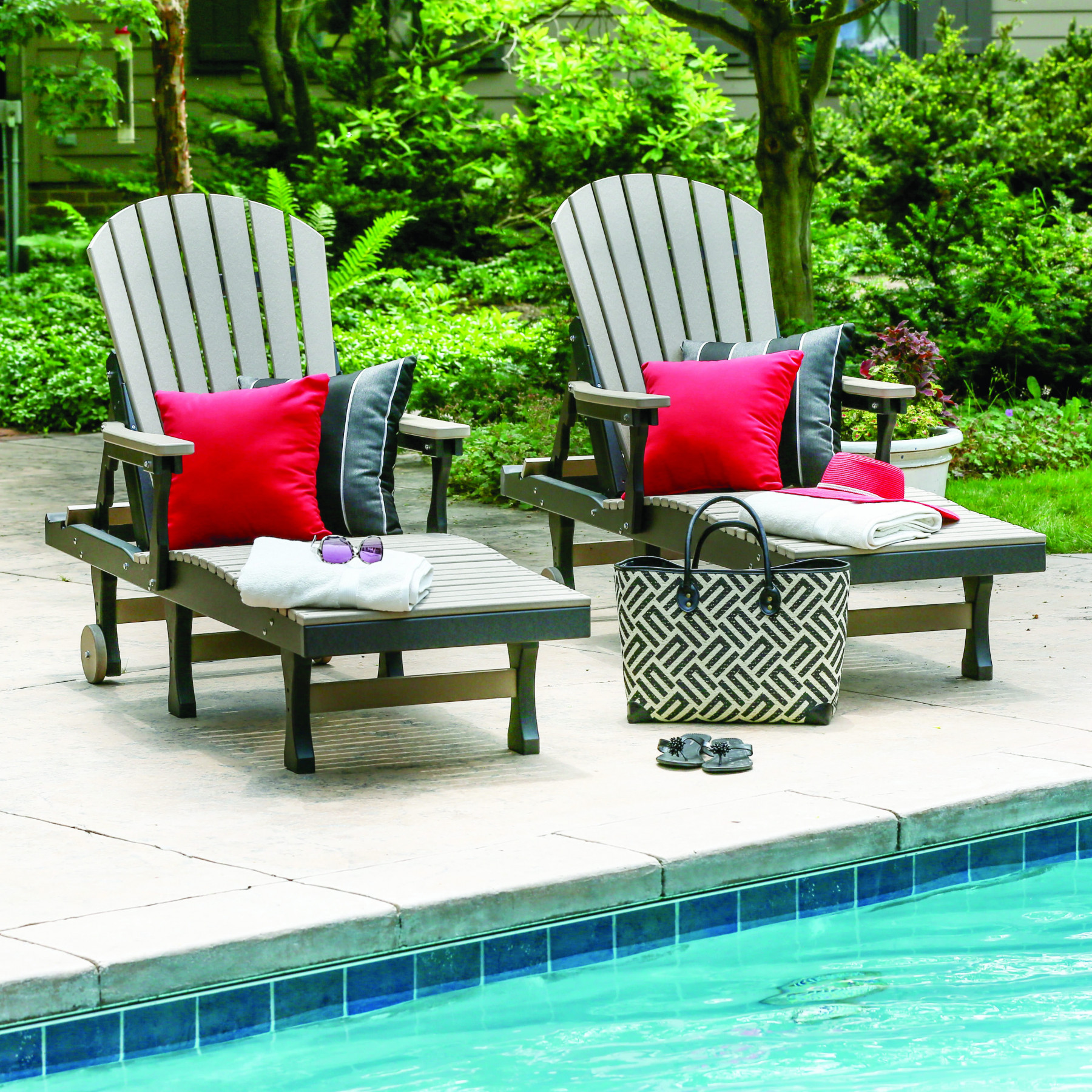 Berlin Gardens Comfo Back Chaise Lounge Set Comfo Back Berlin Gardens Poly Furniture