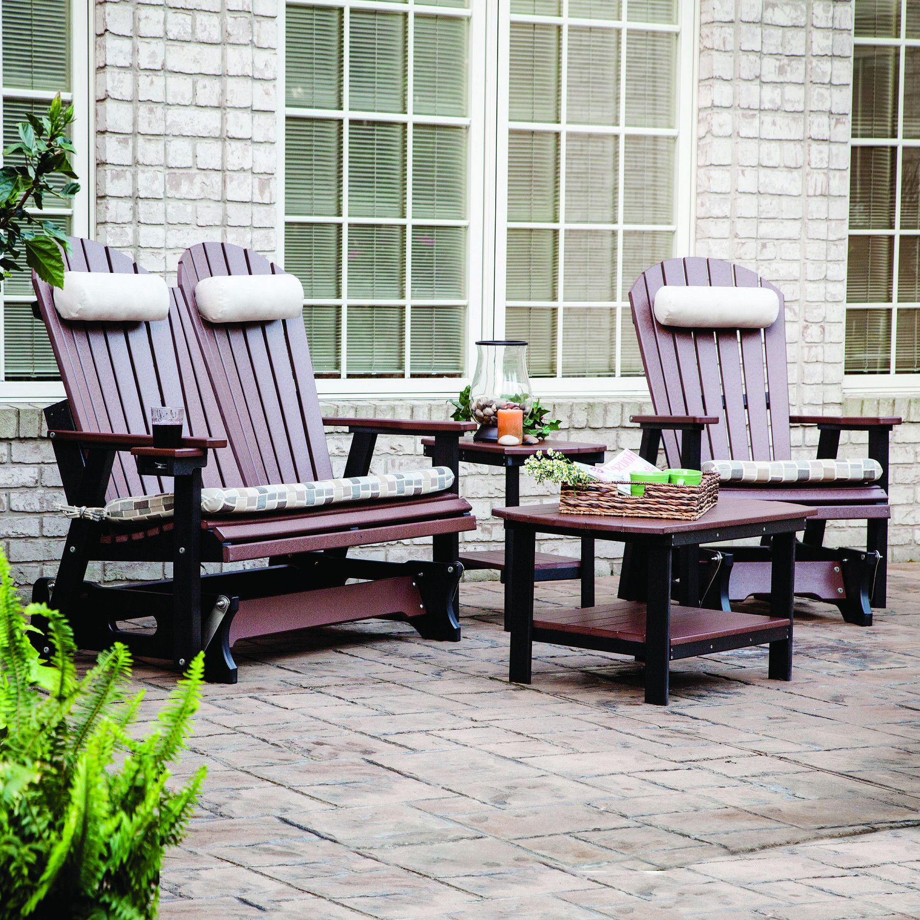 Berlin Gardens Comfo Back Poly Glider Seating Set Berlin Garden Gliders Berlin Gardens Poly