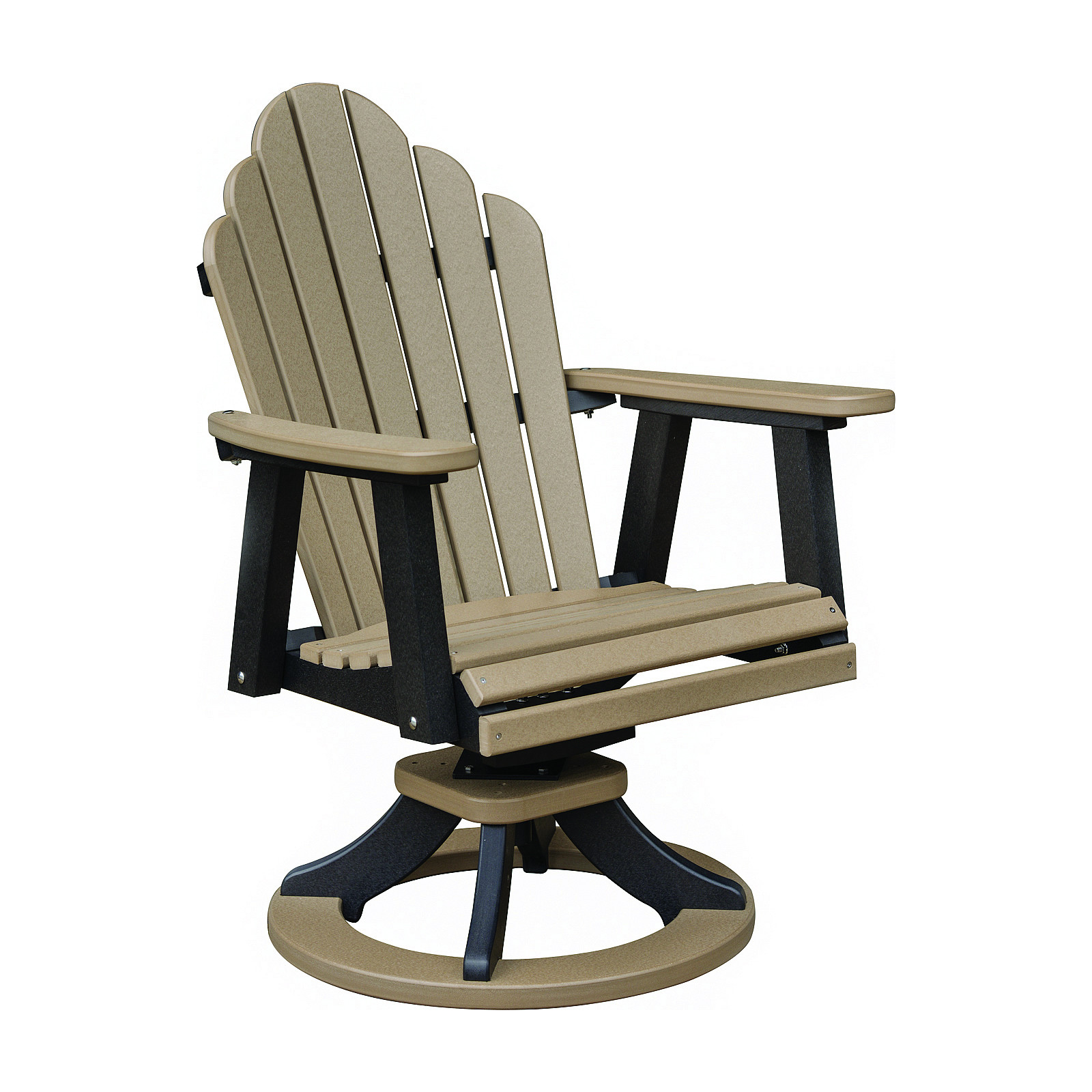 Berlin Gardens Cozi Back Swivel Rocker Dining Chair
