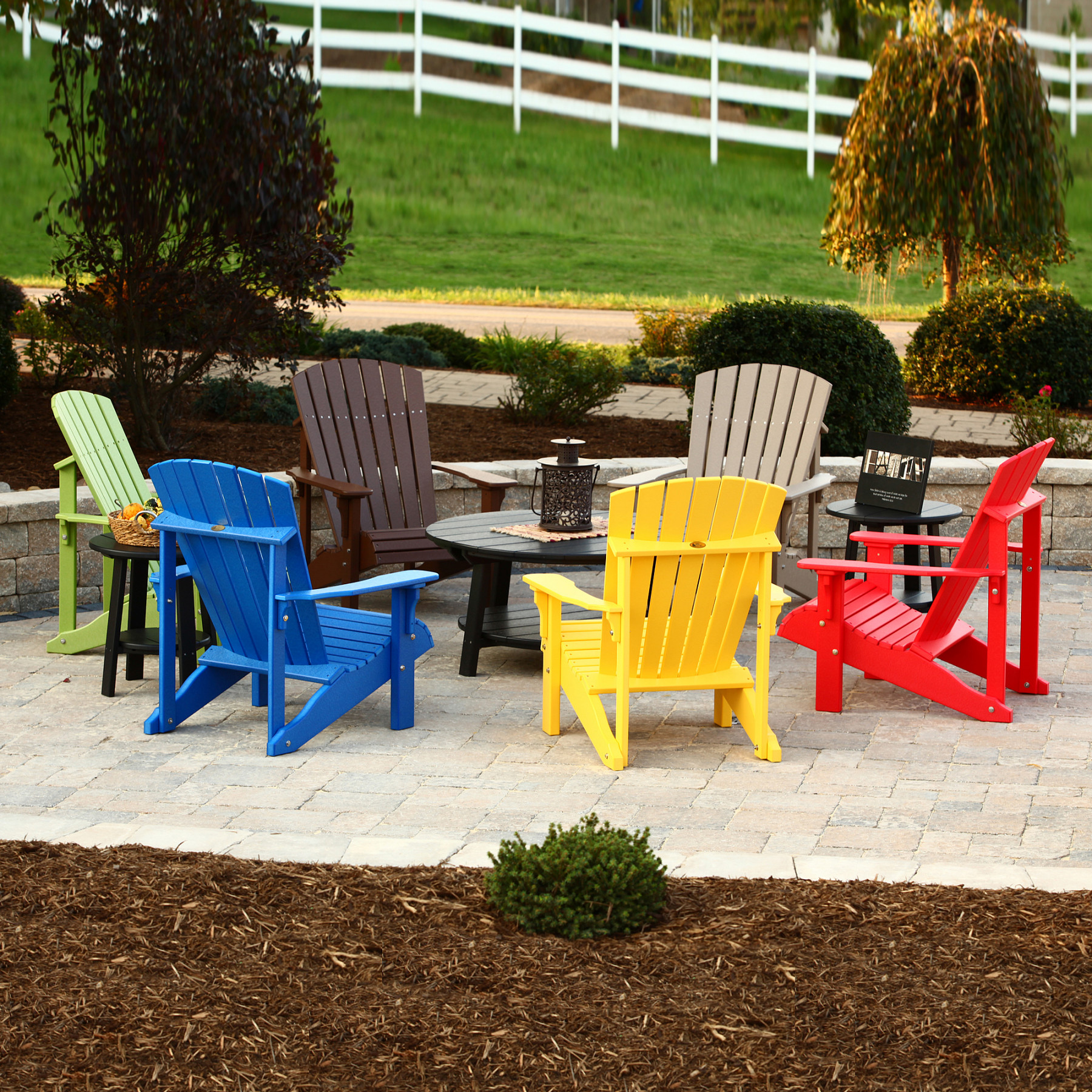 Colorful adirondack chairs - Luxcraft Crestville Deluxe Adirondack Chair In Solid Tropical Colors