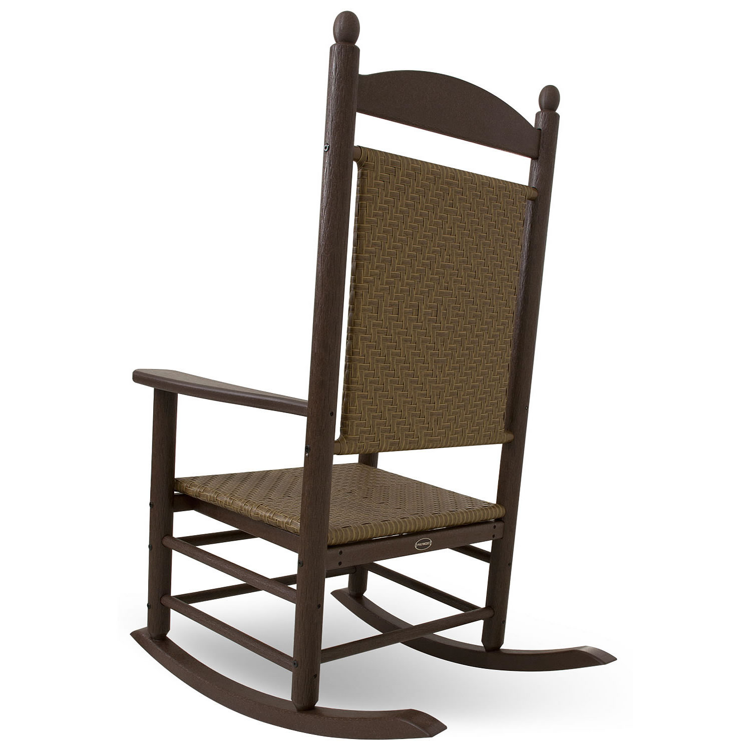 Polywood Presidential Rocker With Woven Seat And Back