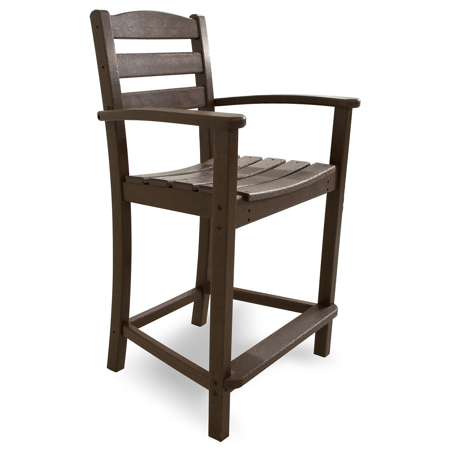 POLYWOOD La Casa Cafe Counter Arm Chair La Casa Cafe POLYWOOD