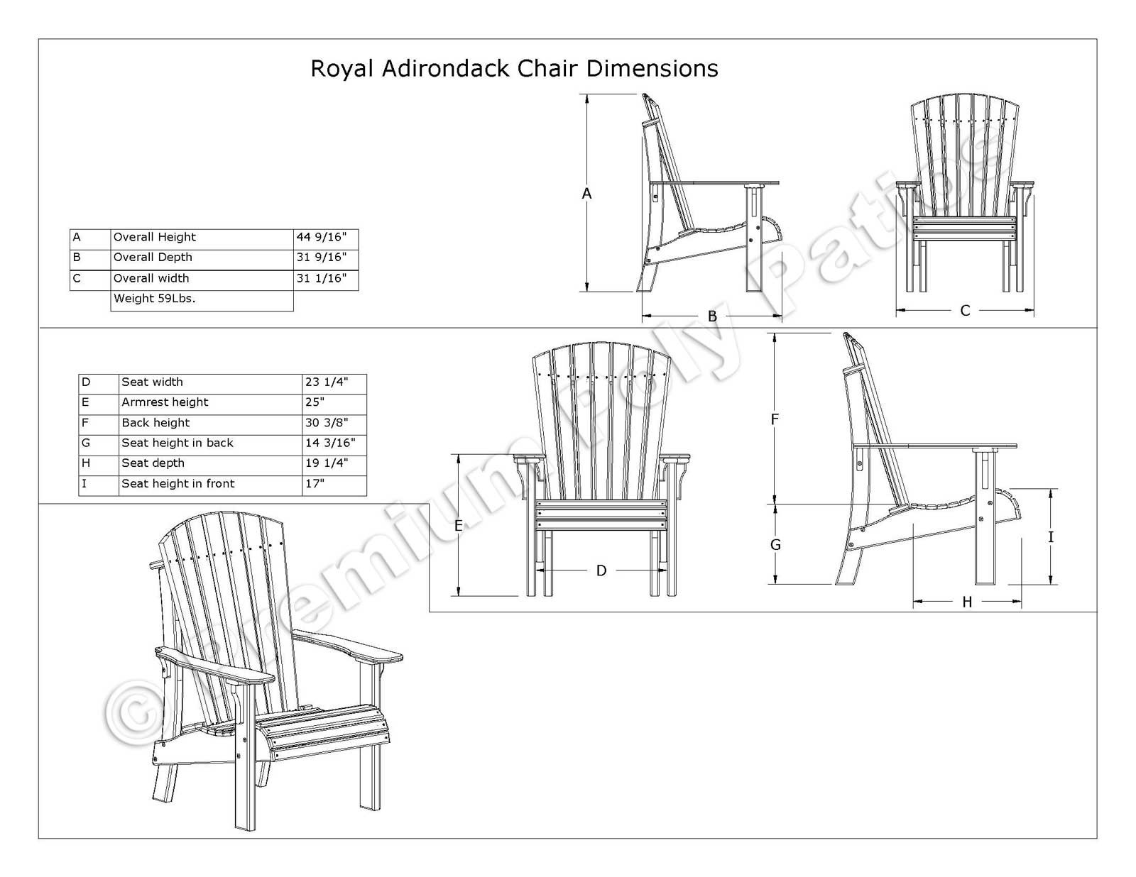 Adirondack chairs drawing - Prevnext