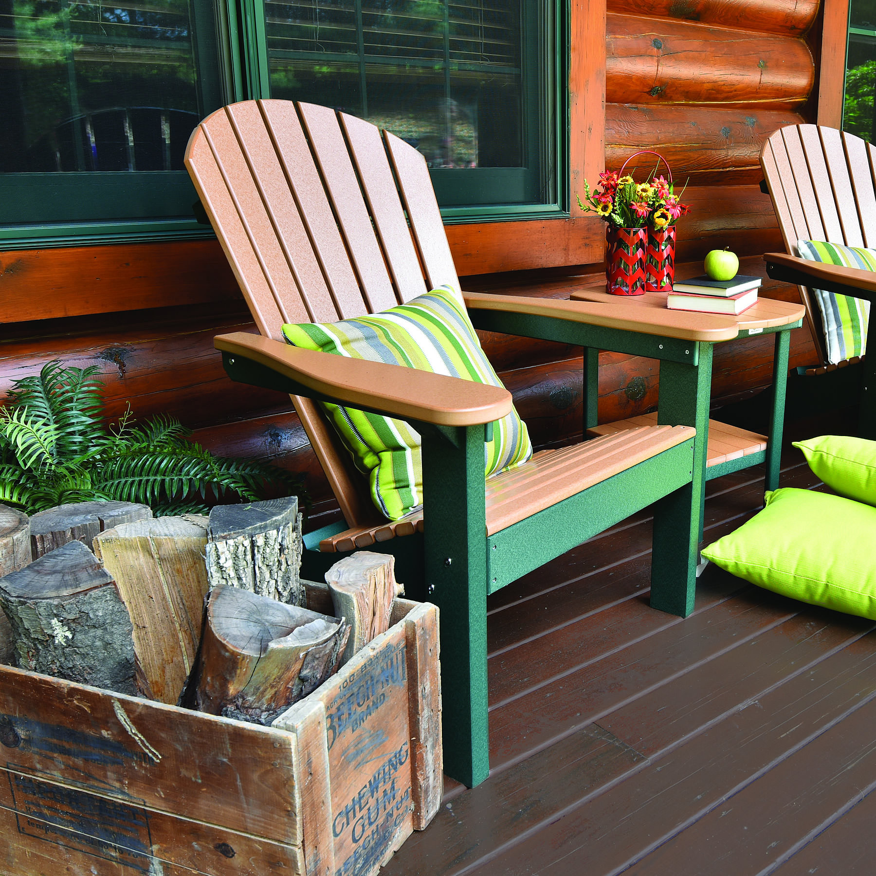 Berlin Gardens Comfo Back Adirondack Chair Poly