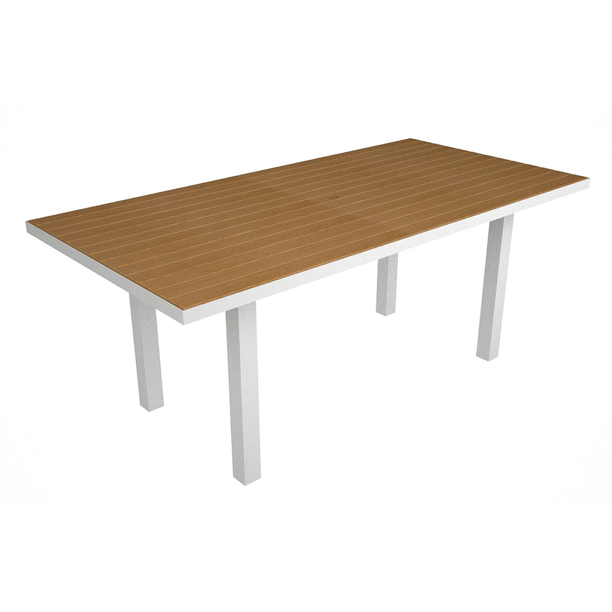 Polywood Euro 36in X 72in Dining Table With Plastique Euro Collection Polywood Outdoor