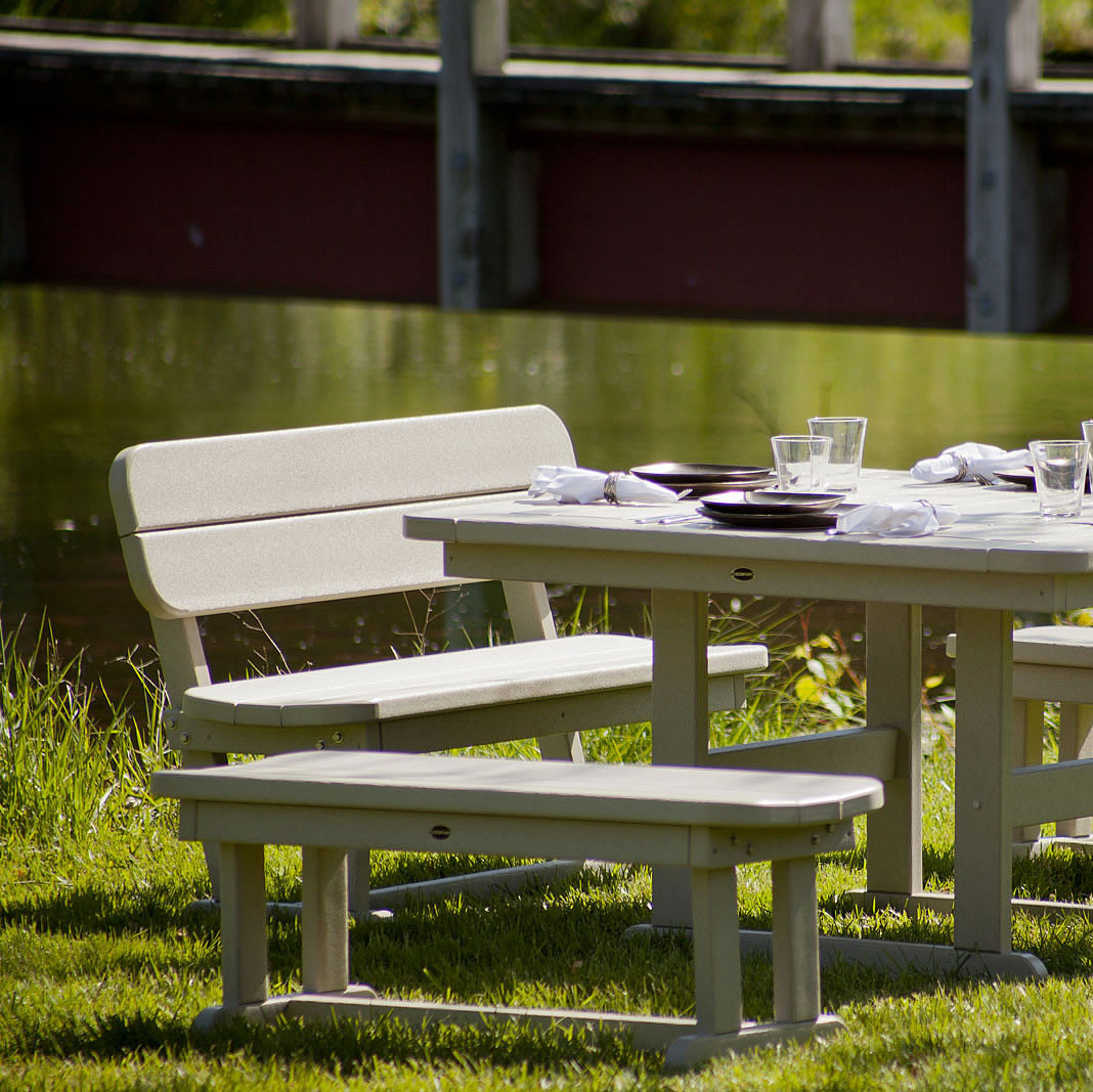POLYWOOD Park Dining Set Picnic Tables Tables - Polywood park picnic table