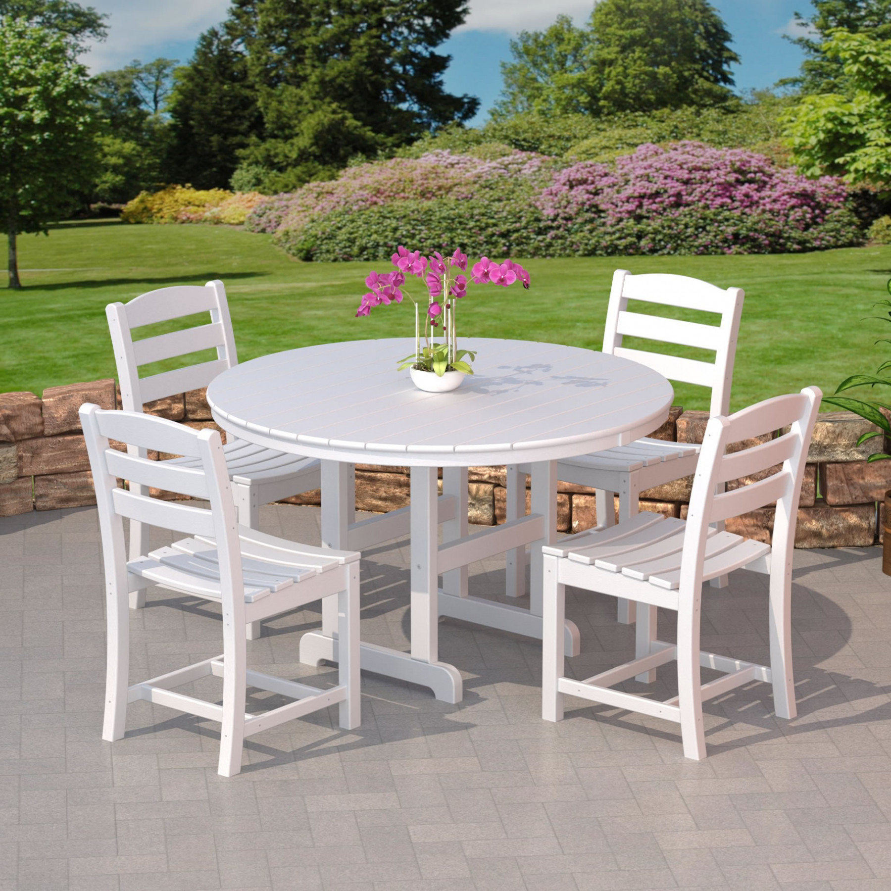 Polywood 174 La Casa Cafe Outdoor Dining Set Dining Sets