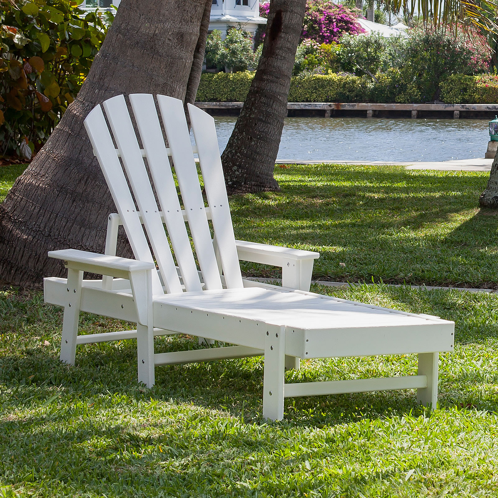 Polywood south beach chaise lounge south beach for Beach chaise lounger