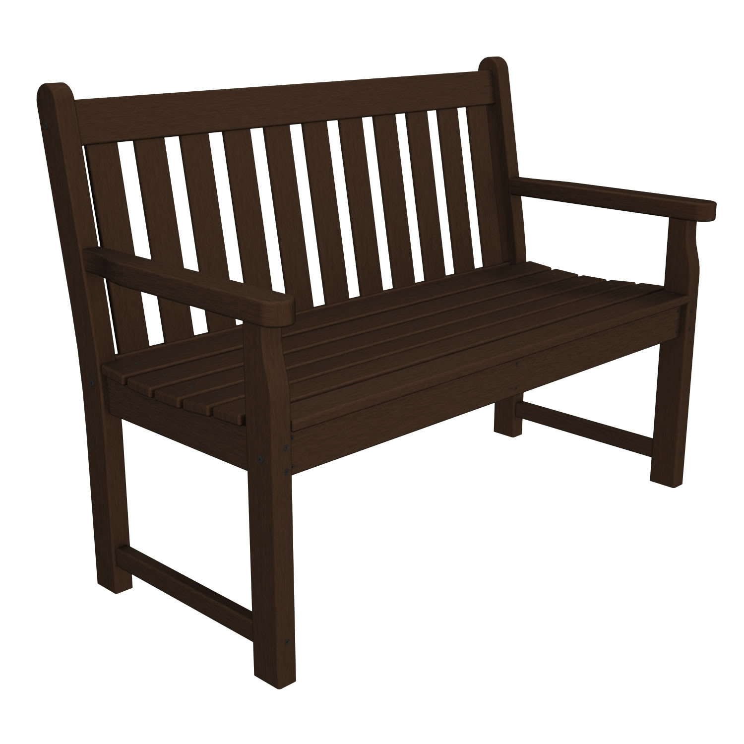 POLYWOOD Traditional 48 in Garden Bench Traditional Garden POLYWOOD Out