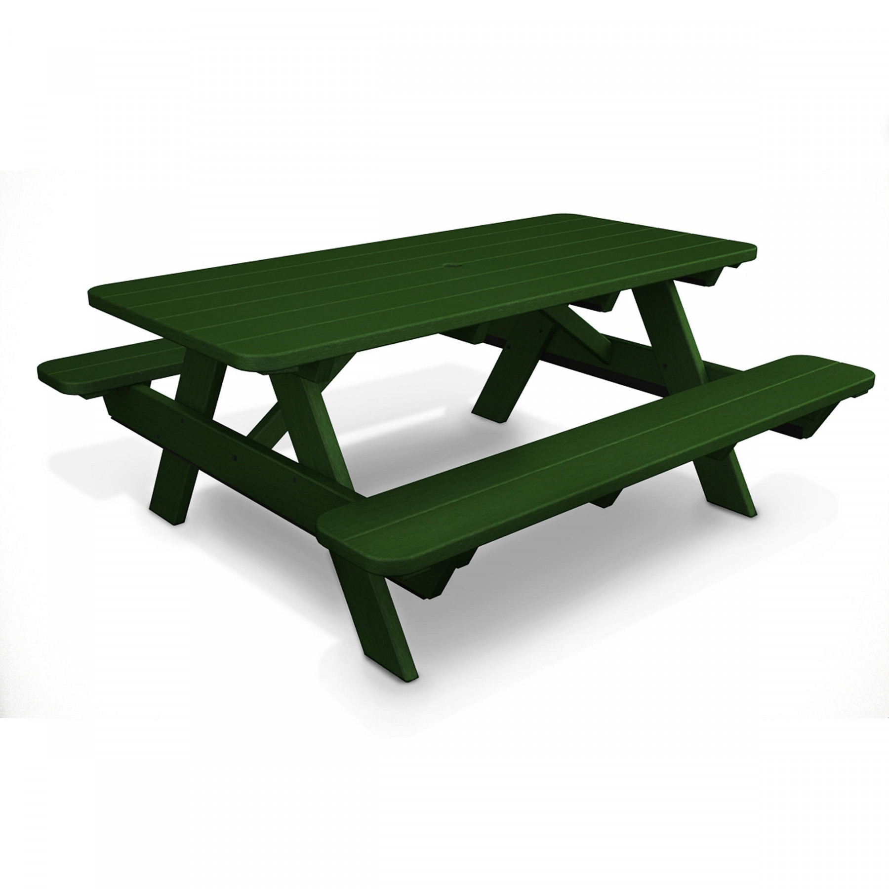 Superbe POLYWOOD 72 In Commercial Picnic Table. PrevNext