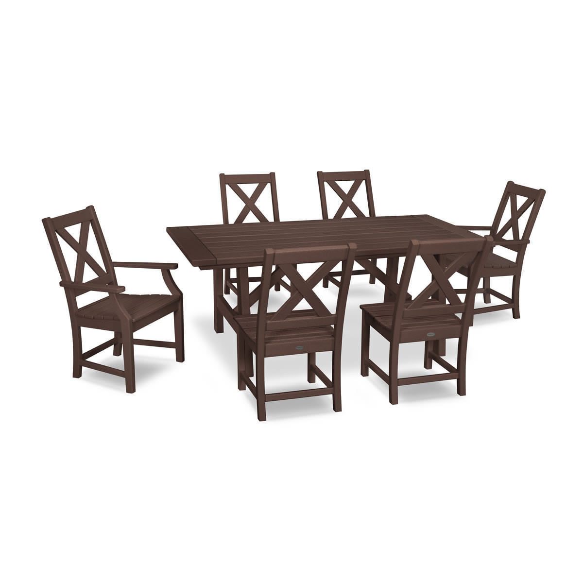 Polywood Braxton 7 Piece Rustic Farmhouse Dining Set Polywood Braxton Polywood Outdoor Furniture Collections