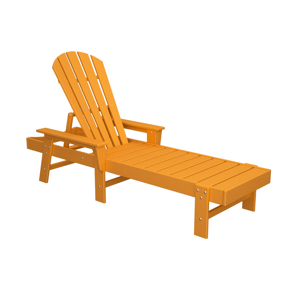 Polywood south beach chaise set with cushions south for Breezy beach chaise