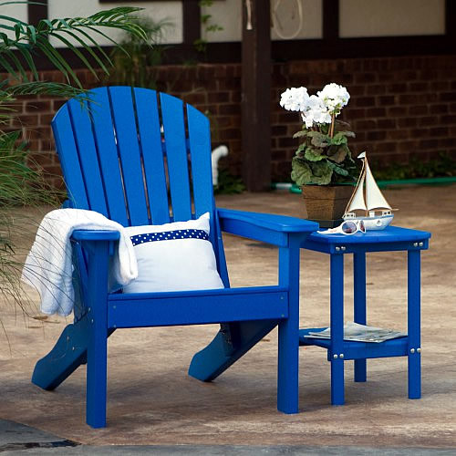 Berlin Gardens Tropical Adirondack Chair Set Comfo Back Berlin Gardens Poly Furniture