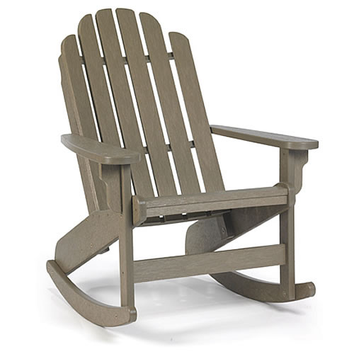 Siesta Recycled Poly Lumber Bayfront Adirondack Rocking Chair ...