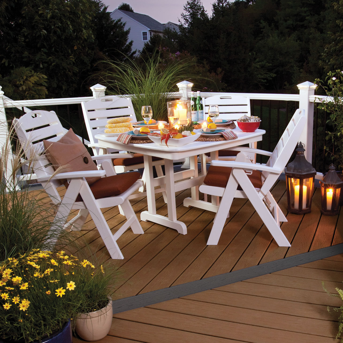 Trex 174 Outdoor Furniture Yacht Club 37 In Dining Table