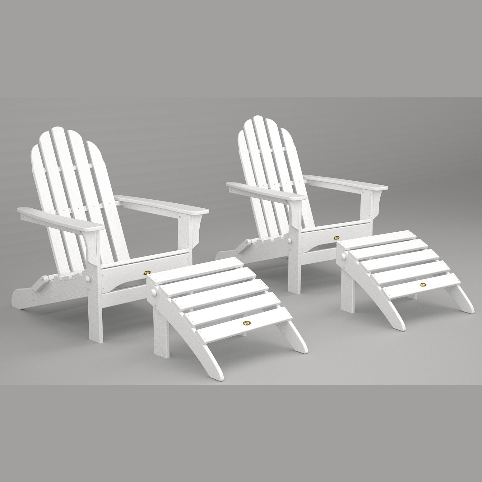 Trex® Outdoor Furniture Cape Cod Folding Adirondack Chair And Ottoman  Seating Set   Trex® Outdoor Furniture Adirondack Chairs   Trex® Outdoor  Furniture   ...