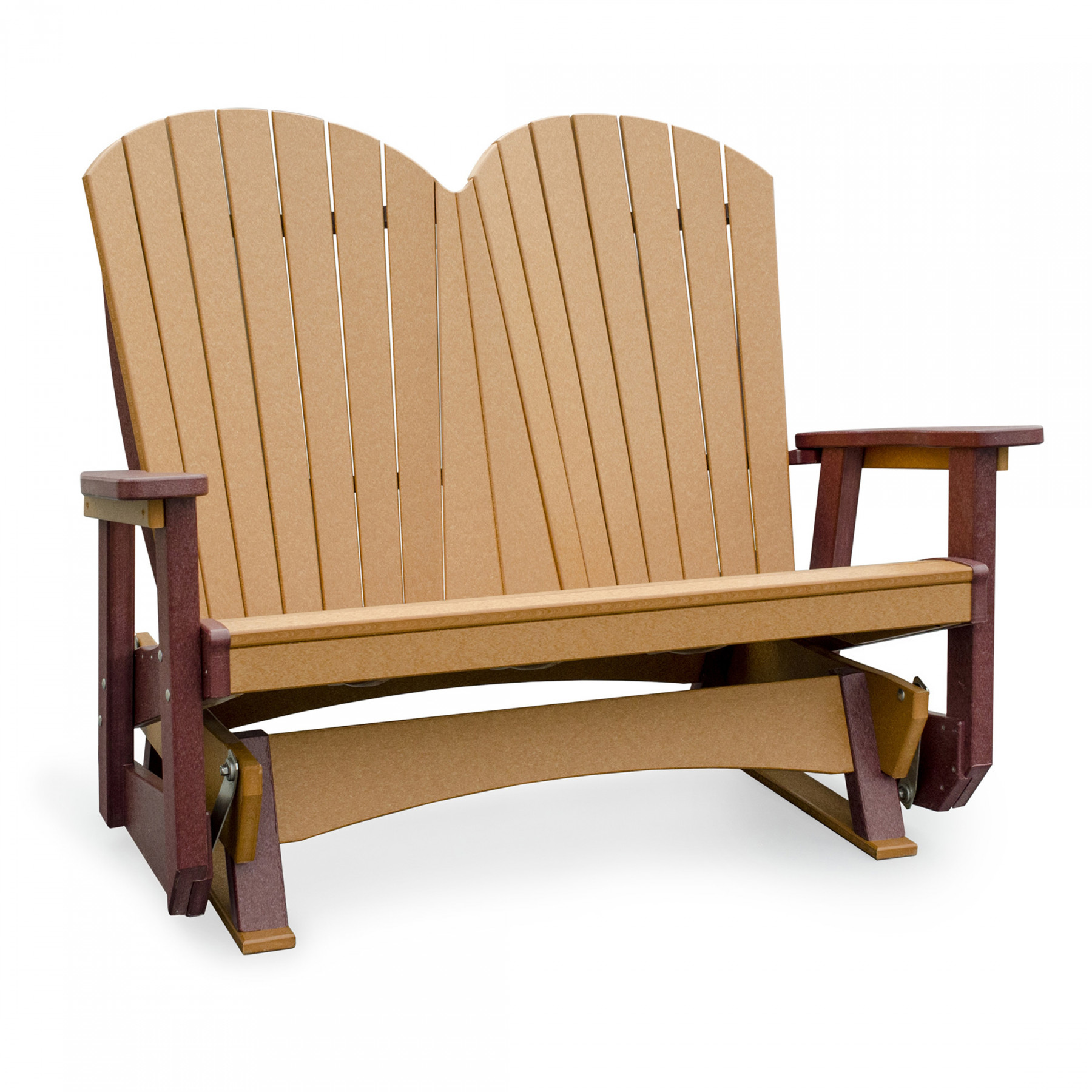 Amish Poly Wood Seaaira Adirondack Double Glider Finch Collections