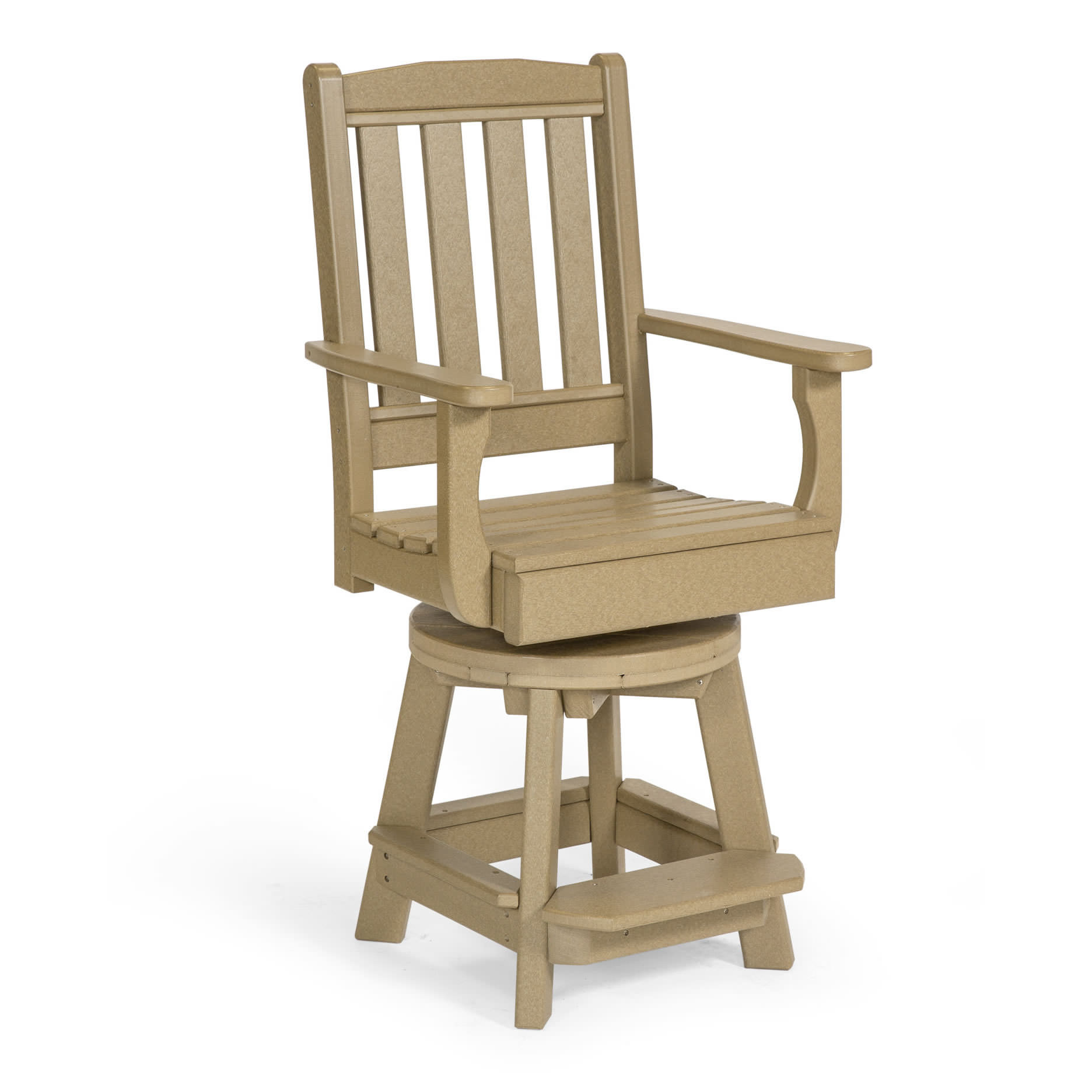 Amish Poly Garden Swivel Counter Chair