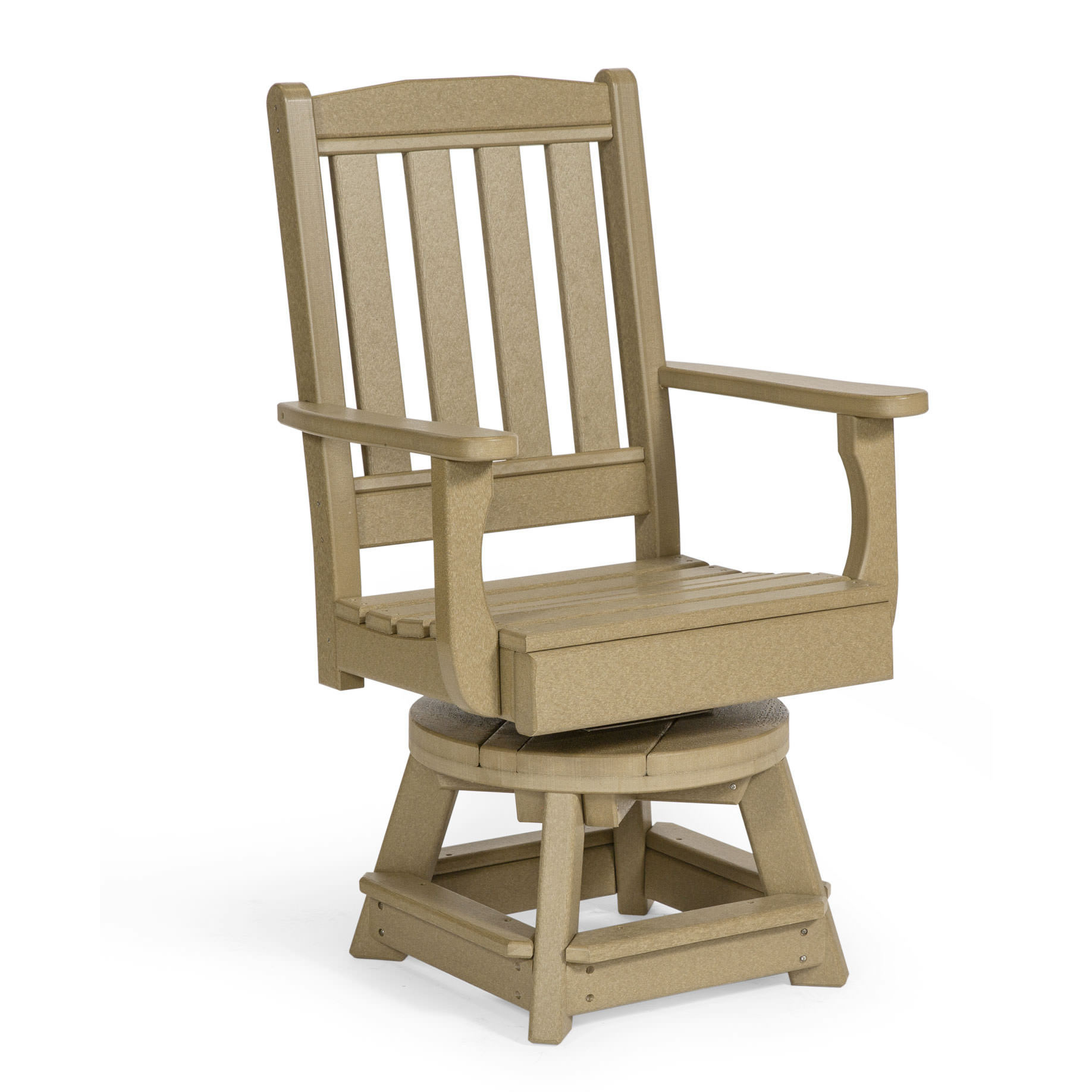 Amish Poly Garden Swivel Dining Chair