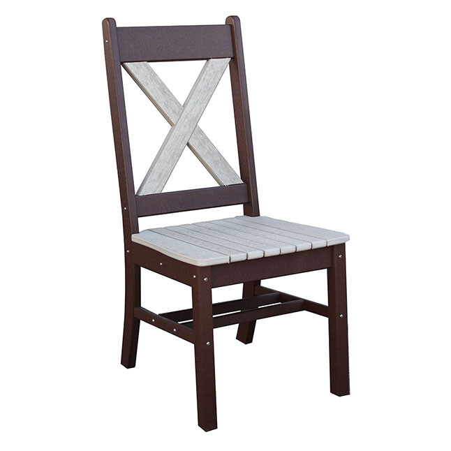 X-Back Poly Dining Arm Chair