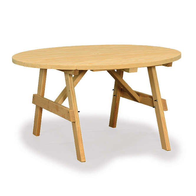 Amish Poly Wood 48in Round Garden Table