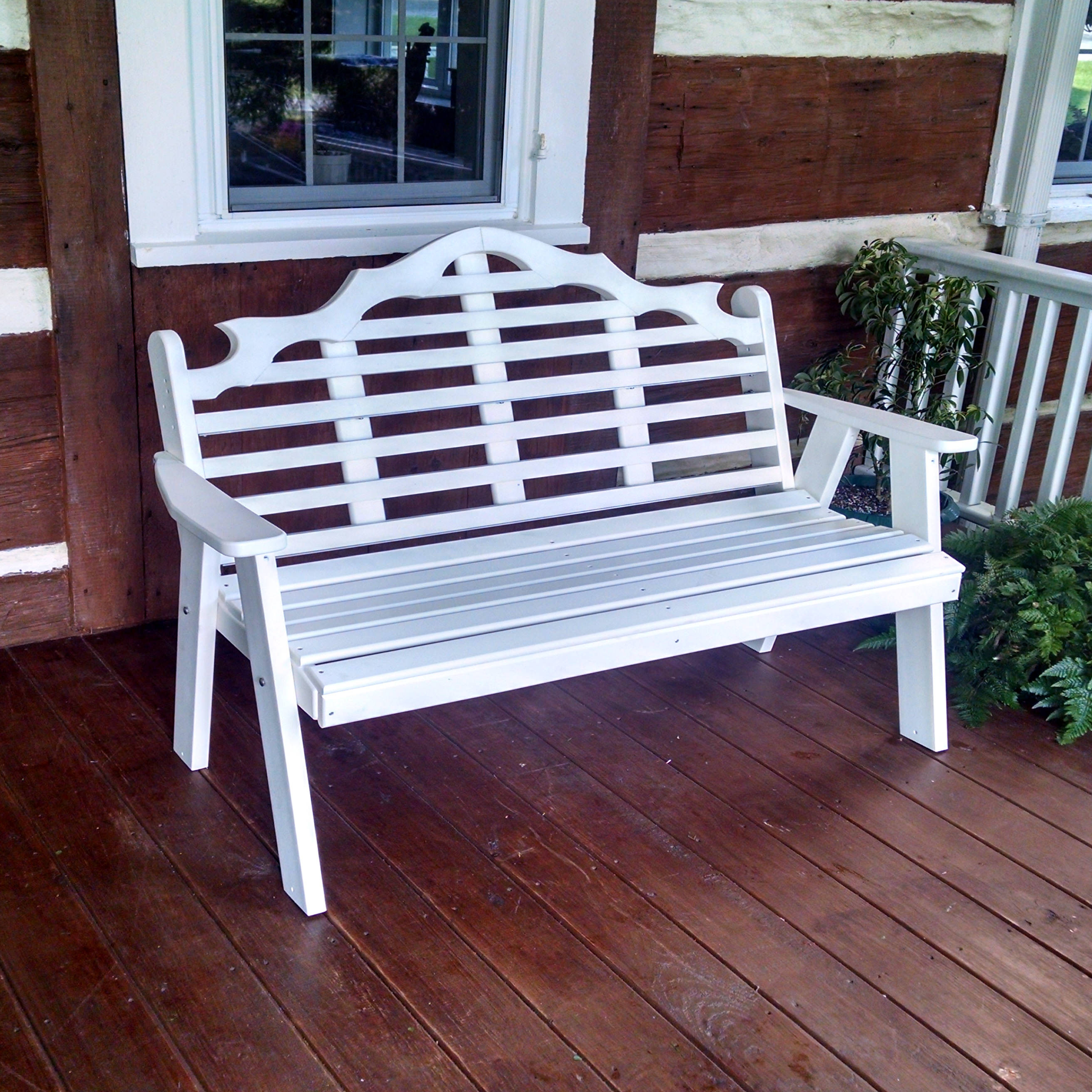A&L Furniture 5 ft Poly Marlboro Garden Bench