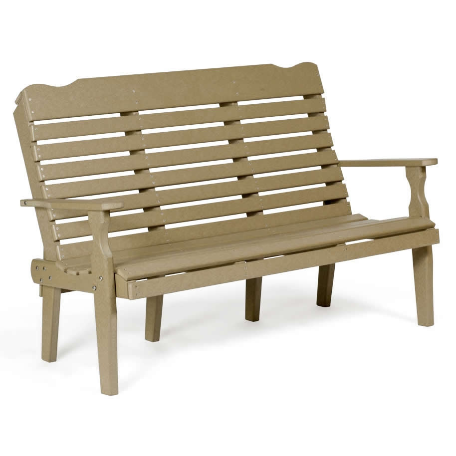 Amish 5 ft Curve-Back Poly Bench