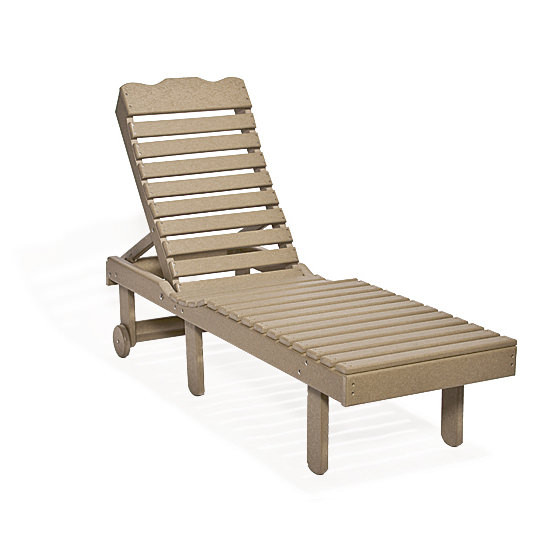 Amish Poly Chaise Lounge without Arms