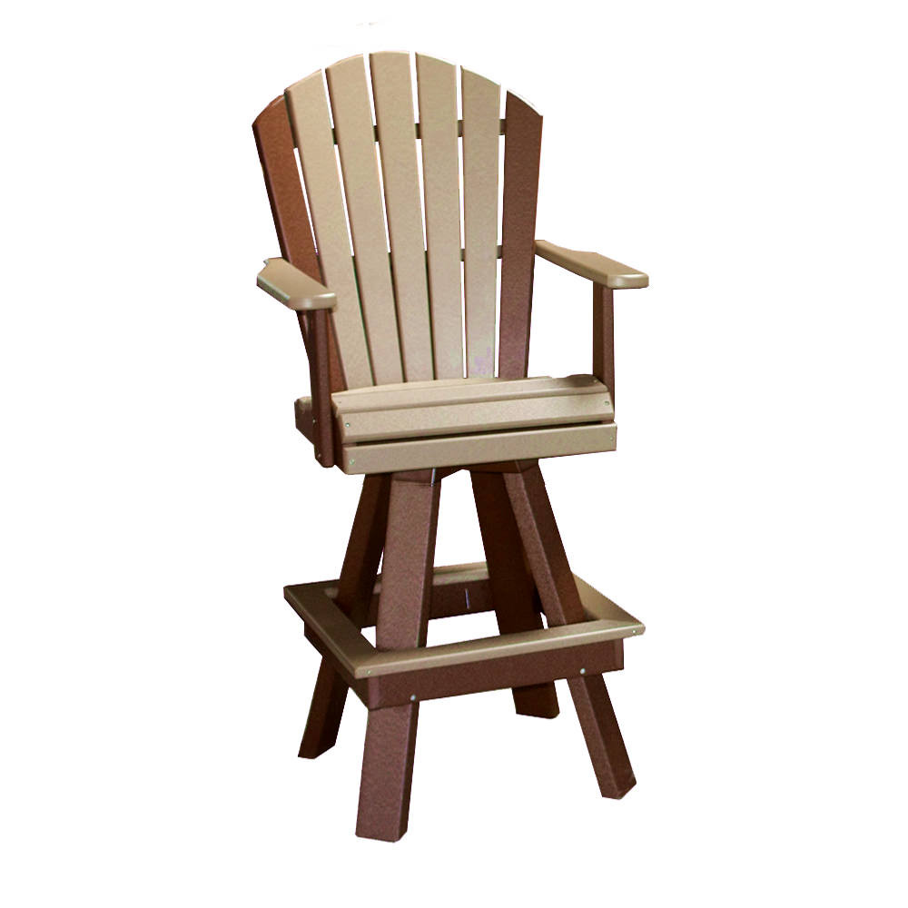 Amish Poly Classic 20in Swivel Bar Chair