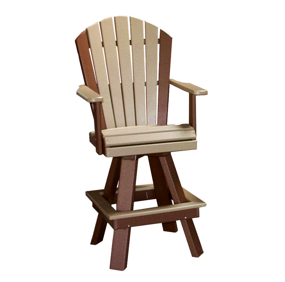 Amish Poly Classic 20in Swivel Dining Chair