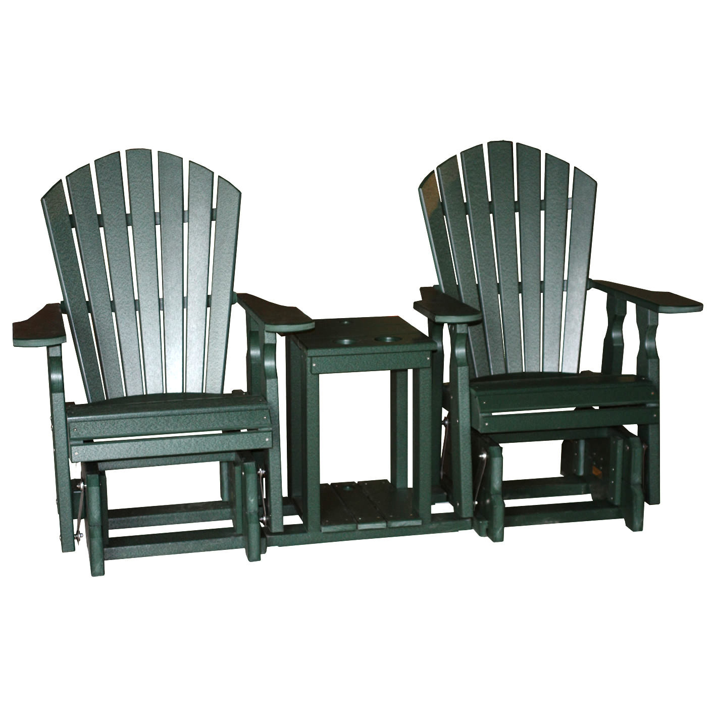 Amish Poly Classic Settee Glider