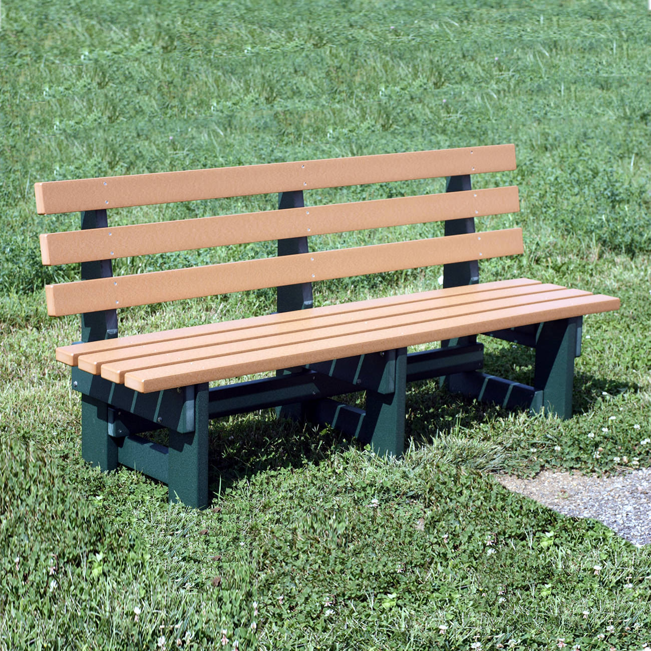 Amish Poly 6' Commercial Park Bench