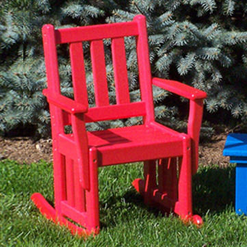 Amish Poly Children's Mission Rocker