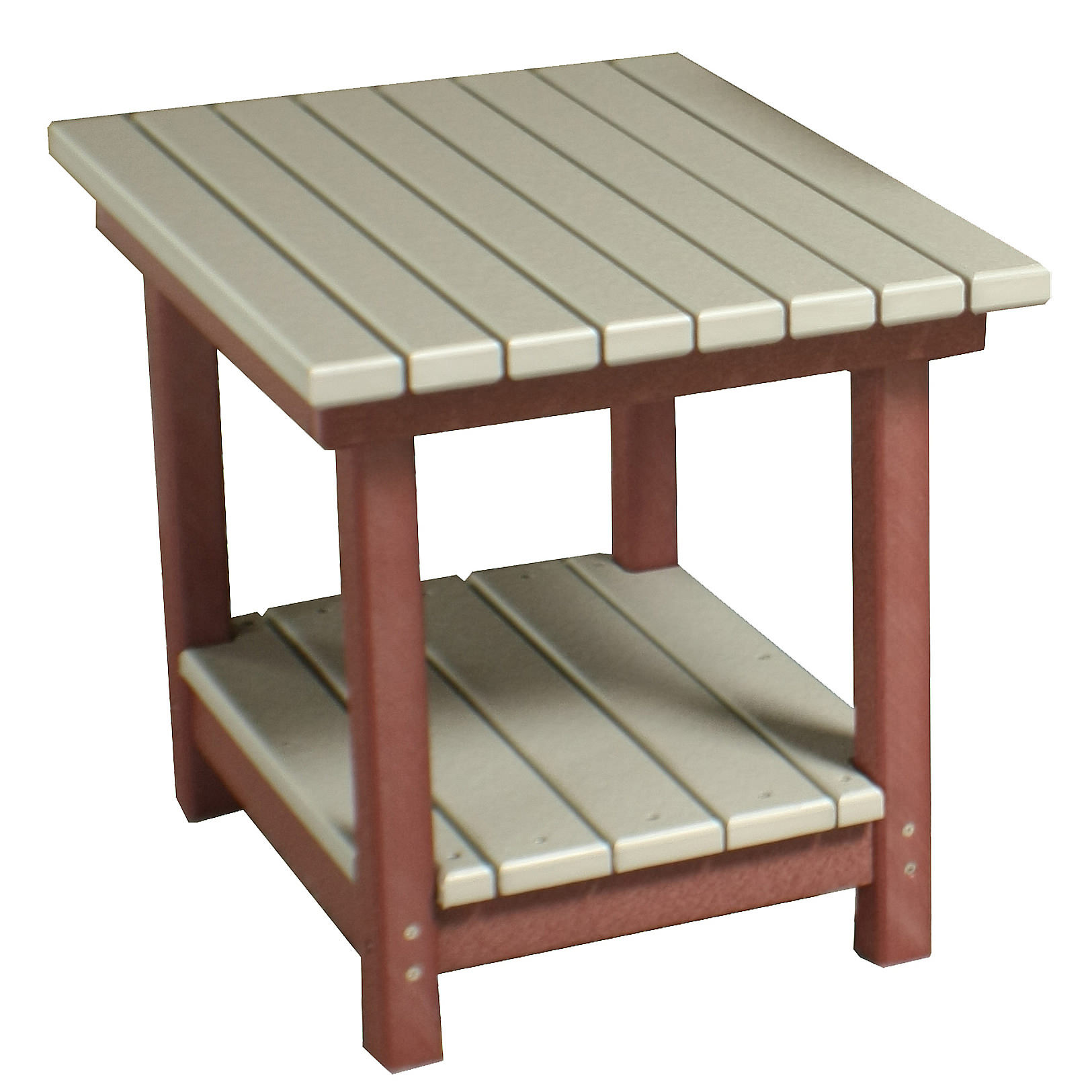 Amish Poly 18in High Deluxe End Table
