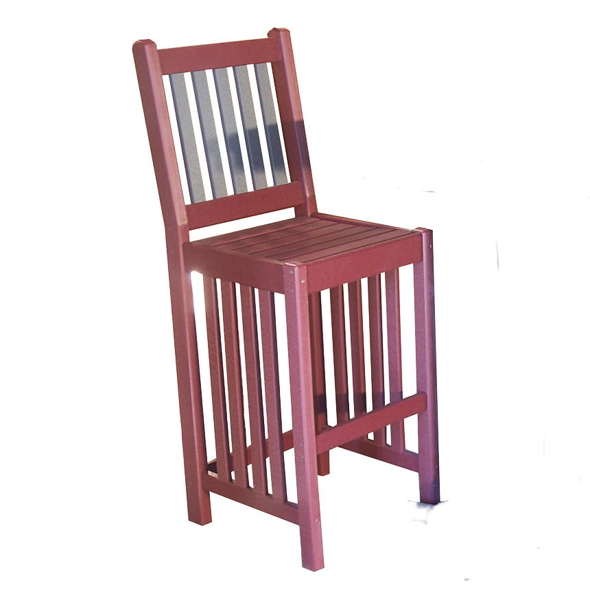 Amish Poly Mission 18in Bar Chair