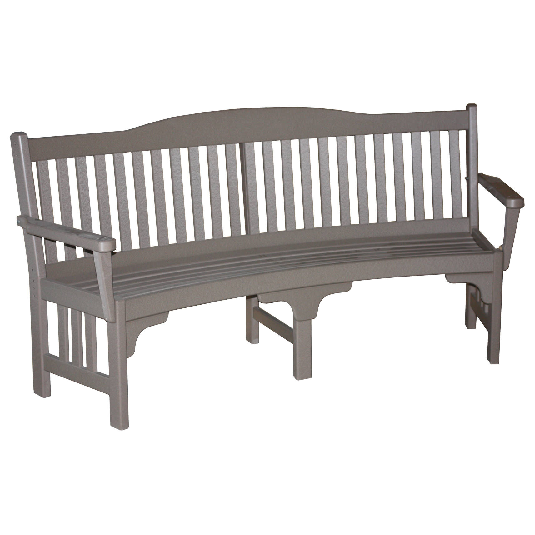 Amish Poly Mission 72in Curved Park Bench